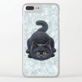 Black kitten Clear iPhone Case
