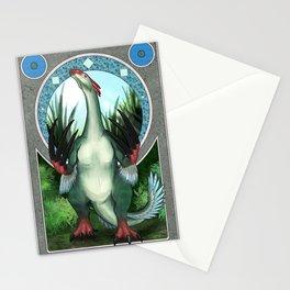 Nouveau - Therizinosaurus Stationery Cards