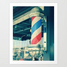 Barber Shop Pole Art Print