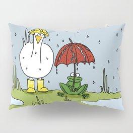 Eglantine la poule (the hen) under the rain. Pillow Sham