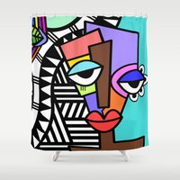 artsy Shower Curtains featuring Artsy by Andrea Silvestri
