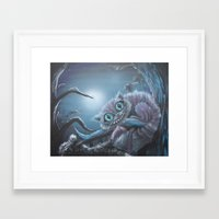 cheshire cat Framed Art Prints featuring Cheshire Cat by Annelies202