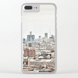 Downtown Detroit Skyline View from New Center Clear iPhone Case