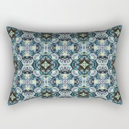 Peacock Blues Rectangular Pillow