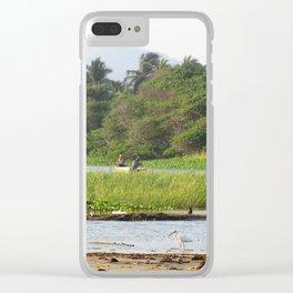 Día de pesca Clear iPhone Case
