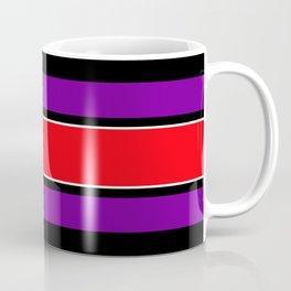 Team Colors 2...red ,purple, black and white Coffee Mug