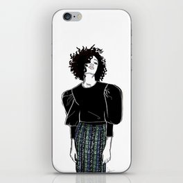 The sequin skirt iPhone Skin