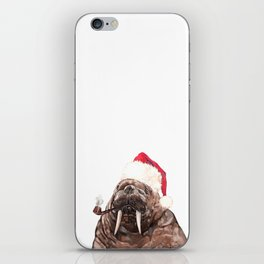 Christmas Daddy Walrus iPhone Skin