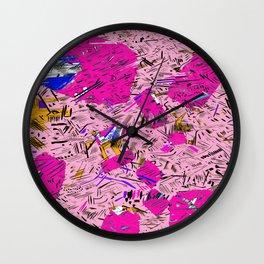 Pink Mash-up Wall Clock
