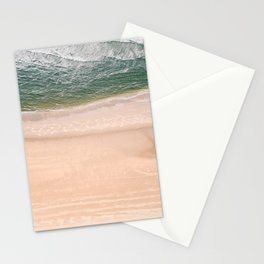 Pastel beach | Drone aerial photography | Wanderlust photo art Stationery Cards