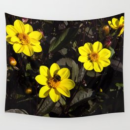 Bee in a Flower Wall Tapestry