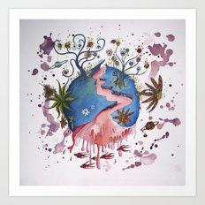 The strange planet Art Print