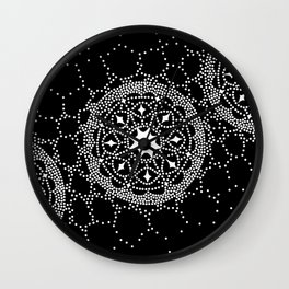 Star Lace Lattice Black Wall Clock