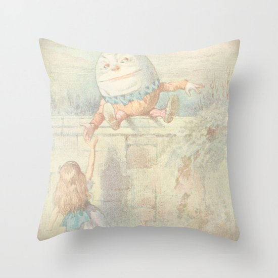 Vintage Humpty Dumpty Throw Pillow