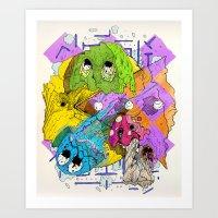 pacman Art Prints featuring Pacman by Jesús L. Yapor
