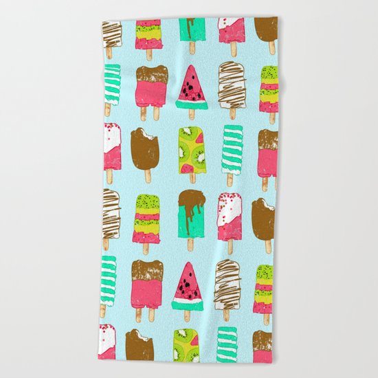 Ice Cream Time Beach Towel