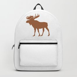 Moose: Brown Backpack