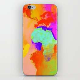 world map iPhone Skin