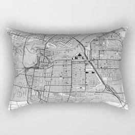 Vintage Map of Ottawa Canada (1915) BW Rectangular Pillow