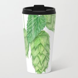 Beer Hop Flowers Travel Mug