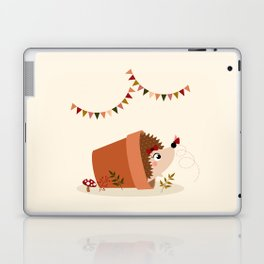 Hérisson et papillon Laptop & iPad Skin