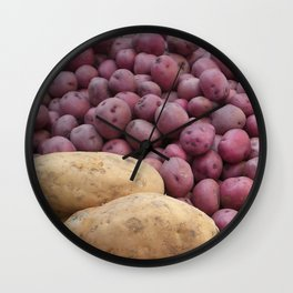 Farmer's Market Sweet Potatoes Wall Clock
