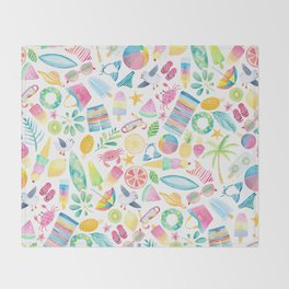 Summer Extravaganza Throw Blanket