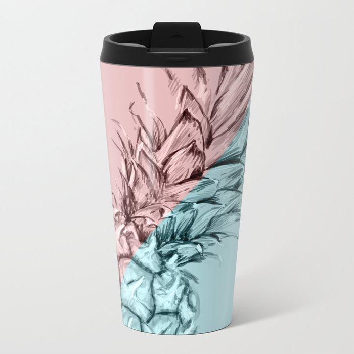 Pineapple 3 Metal Travel Mug