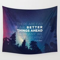 "pocketfuel Wall Tapestries featuring CS Lewis ""Better Things Ahead"" by Pocket Fuel"