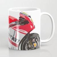 ducati Mugs featuring Ducati GP15 by Larsson Stevensem