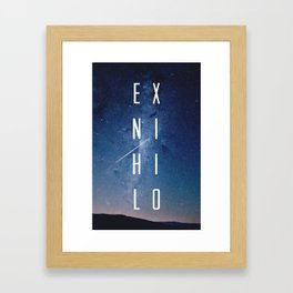 Ex Nihilo Framed Art Print