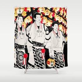 NIHONMATSU chochin matsuri Shower Curtain