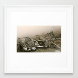 The Wolf''s lair Framed Art Print
