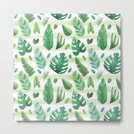 Tropical Palm Tree Leaves Metal Print