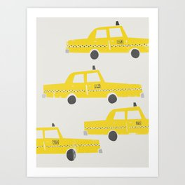 New York Taxicab Art Print