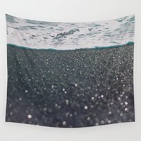 iceland Wall Tapestries featuring Vík, Iceland by Chelle Wootten