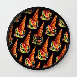 Rainbow Ice Cream Pattern Wall Clock