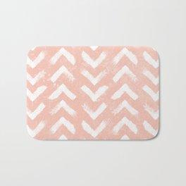 Paintbrush Arrow Pattern Blush Pink Bath Mat
