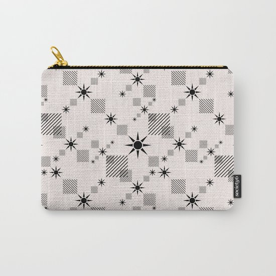 Abstract black pattern on a cream background Carry-All Pouch