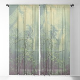 Forest and Fog Sheer Curtain