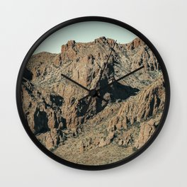 Mountain Landscape in Big Bend National Park Wall Clock