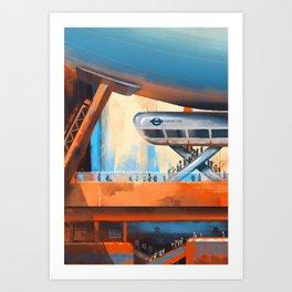 Transport for London Zeppelin Line Art Print
