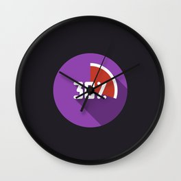 """Illustration """"percentage - 30%"""" with long shadow in new modern flat design Wall Clock"""