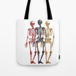 Skeleton Halloween Twins Tote Bag