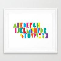 alphabet Framed Art Prints featuring Alphabet by Rachel Lee