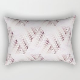 Abstract geometric pattern.Pinkish beige striped triangles . Rectangular Pillow