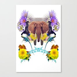 Sacred Elephant Raps About Masterful Rappers After Close Canvas Print