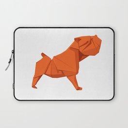 Origami Bulldog Laptop Sleeve