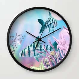 keep swimming Wall Clock