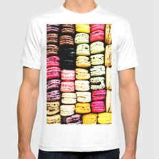 Macarons LOVE White MEDIUM Mens Fitted Tee